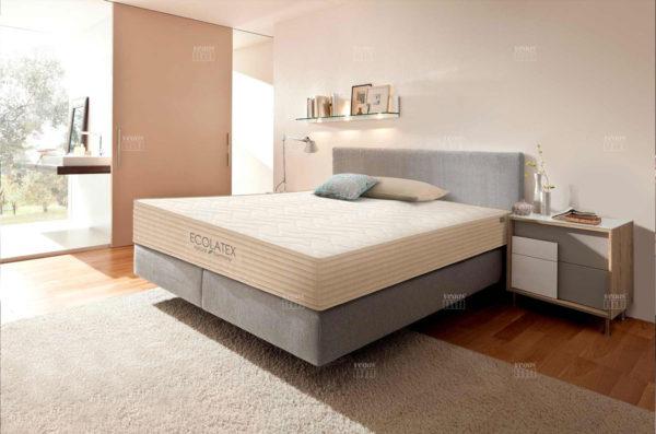 Матрас Vegas Ecolatex в интерьере спальни.